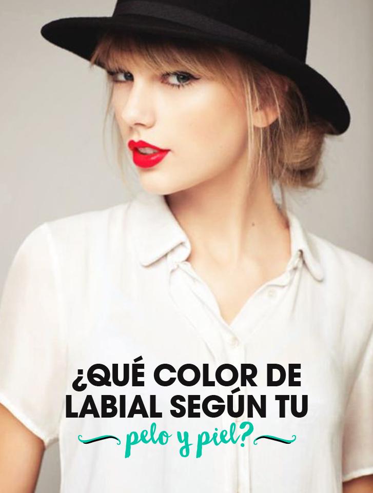 Color labios piel clara pelo oscuro