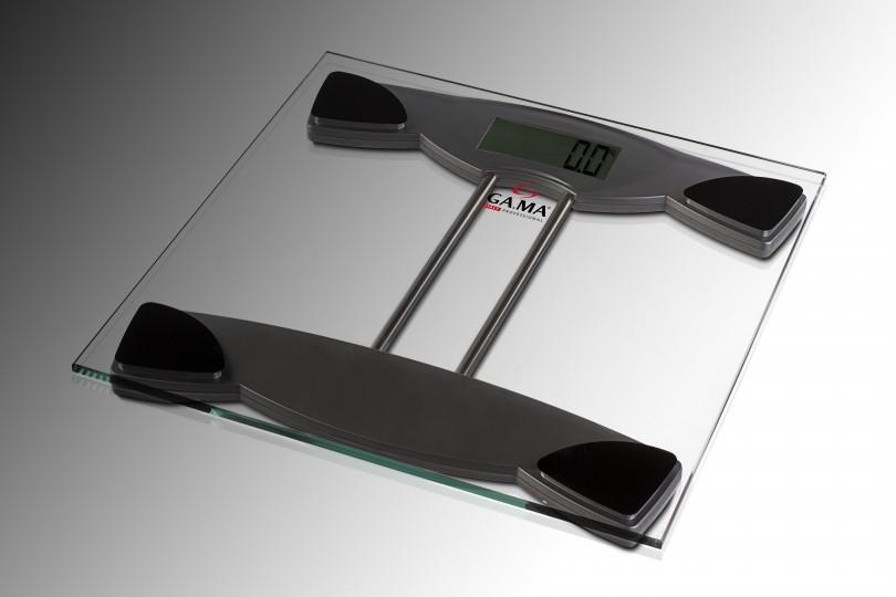 Balanza personal de vidrio templado de 6mm. Sistema Auto On: toma el peso al primer contacto.