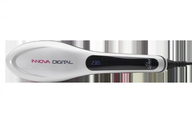 Innova Digital es un cepillo con cabezal ovalado que combina la función de un cepillo con la de una plancha alisadora. Por eso, ¡es la herramienta más práctica y rápida para lucir siempre un pelo en orden y liso como la seda!