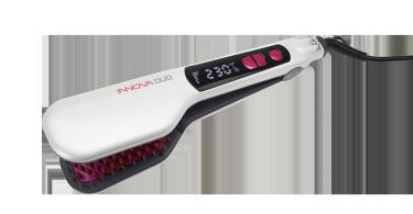 Innova Duo: es un cepillo alisador eléctrico compuesto por un cabezal doble que incluye cerdas que se calientan y alisan al pelo; además de peinarlo y desenredarlo.