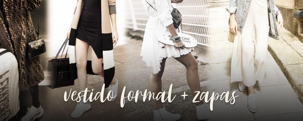 vestido formal + zapas